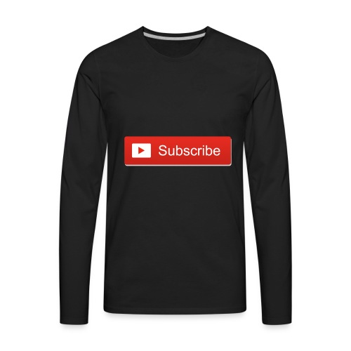 Subscribe PNG 12 - Men's Premium Long Sleeve T-Shirt