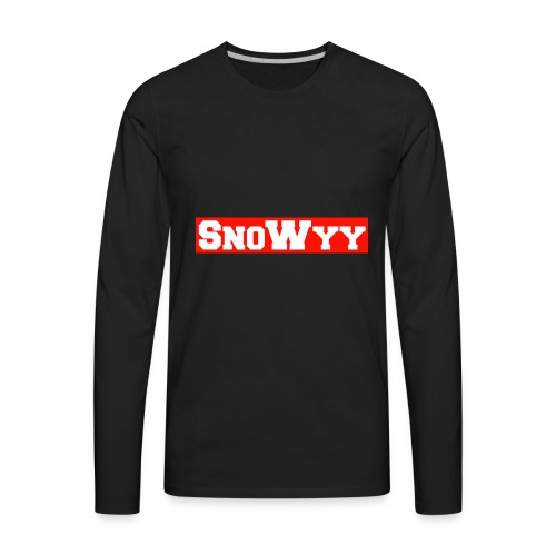 Red/White SnoWyy - Supreme Like Style - Men's Premium Long Sleeve T-Shirt
