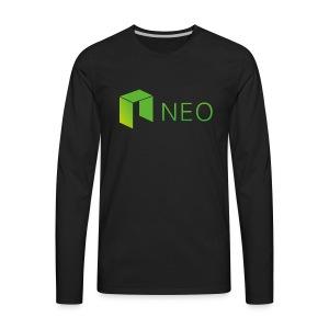 Neo Cryptocurrency logo - Men's Premium Long Sleeve T-Shirt