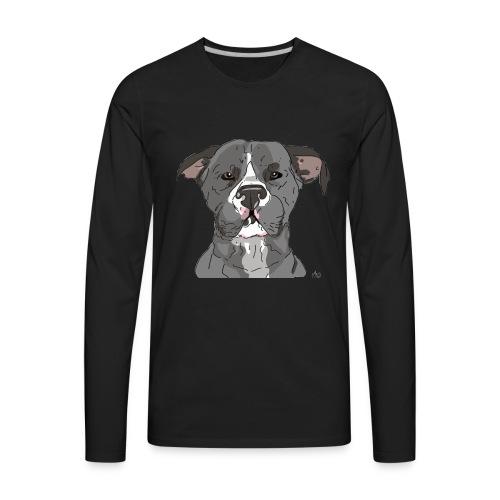 AmericanWoof - art by lloganbear - Men's Premium Long Sleeve T-Shirt