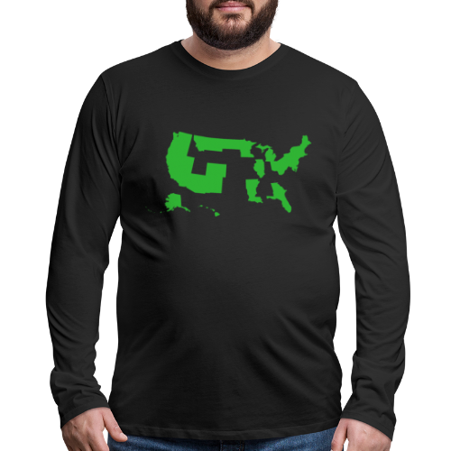 America the Green - Men's Premium Long Sleeve T-Shirt