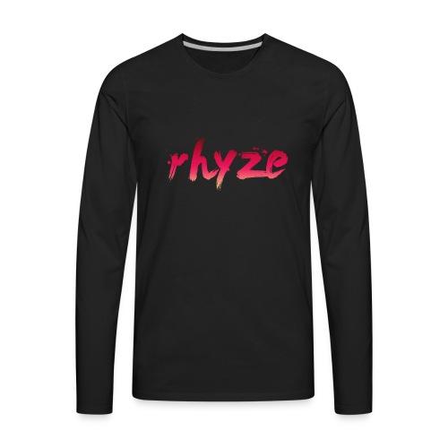 Rhyze Lettering - Men's Premium Long Sleeve T-Shirt