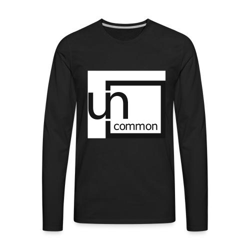 Uncommon logo BW - Men's Premium Long Sleeve T-Shirt