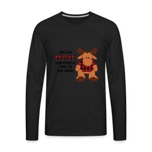 moose wonderful time of the year - Men's Premium Long Sleeve T-Shirt