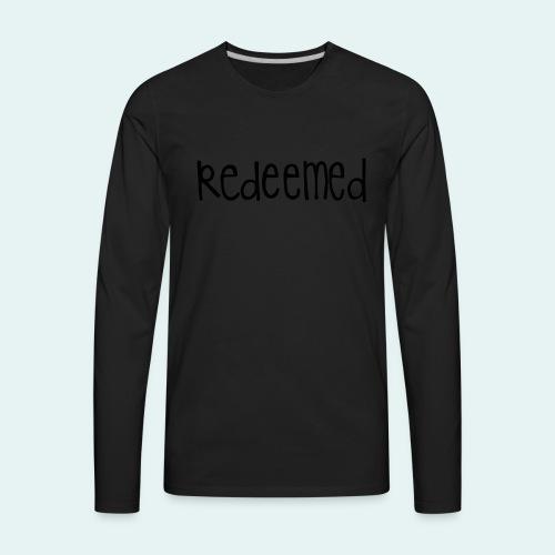 Handwritten REDEEMED Design - Men's Premium Long Sleeve T-Shirt