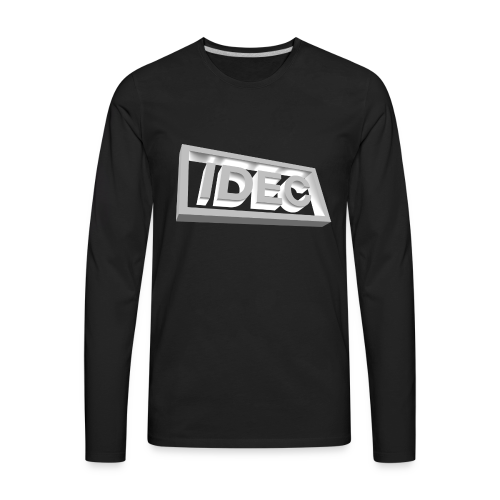 3D IDEC Logo - Men's Premium Long Sleeve T-Shirt