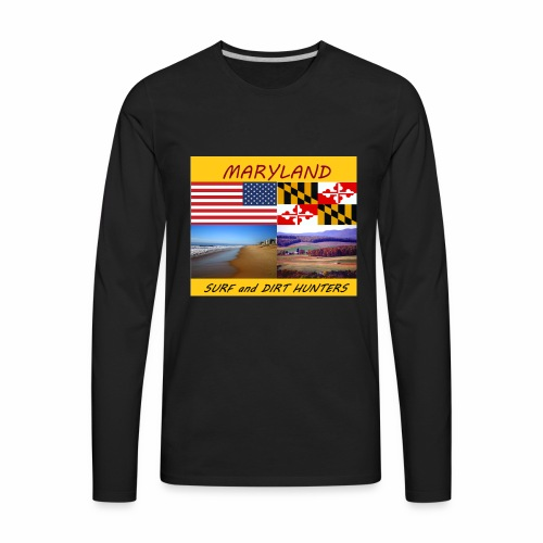 MARYLAND SURF AND DIRT HUNTERS group LOGO LARGE - Men's Premium Long Sleeve T-Shirt