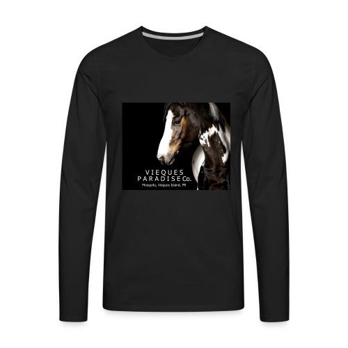 vieques island paradise horse poster - Men's Premium Long Sleeve T-Shirt