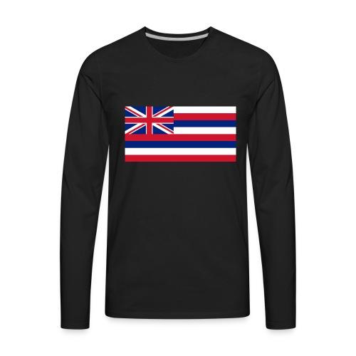 Hawaiian Flag - Men's Premium Long Sleeve T-Shirt