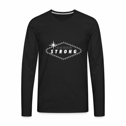 Vegas Strong Sign (white) - Men's Premium Long Sleeve T-Shirt