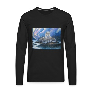 WOLVES OF THE NORTHERN LIGHTS - Men's Premium Long Sleeve T-Shirt
