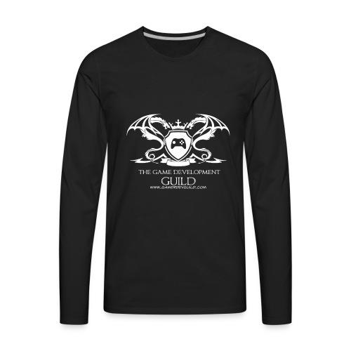 White Game Development Guild Crest - Men's Premium Long Sleeve T-Shirt