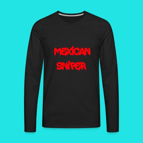 Mexican Sniper Graffiti - Men's Premium Long Sleeve T-Shirt