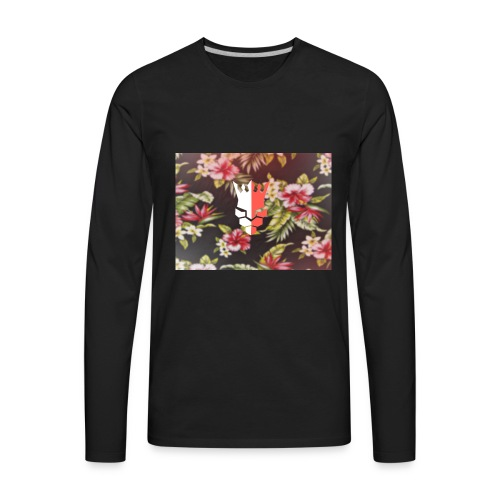red & white evjay logo - Men's Premium Long Sleeve T-Shirt