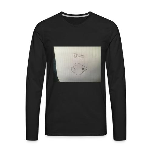 Heart and key - Men's Premium Long Sleeve T-Shirt