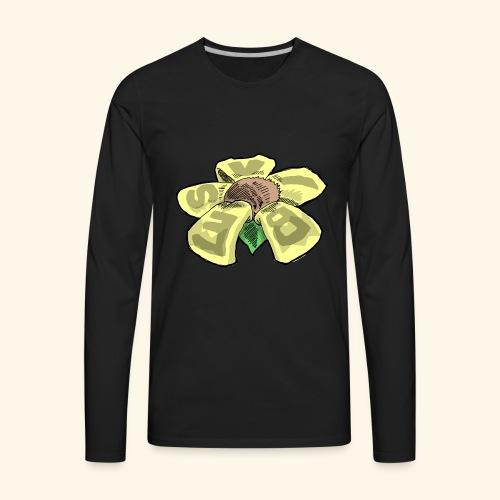 Vibes Flower by GVD - Men's Premium Long Sleeve T-Shirt