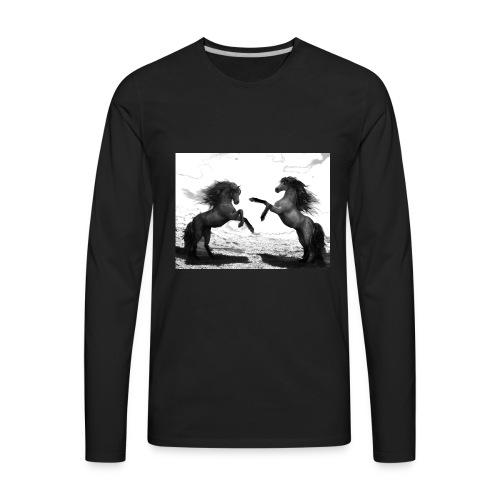 horses 2 - Men's Premium Long Sleeve T-Shirt