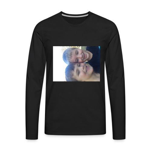 Me and my friend - Men's Premium Long Sleeve T-Shirt