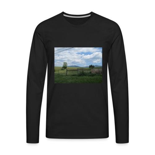 IMG 0109lonely field but beautiful - Men's Premium Long Sleeve T-Shirt