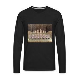 Chess bord - Men's Premium Long Sleeve T-Shirt