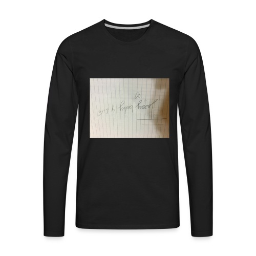 This is important for my fans in musically - Men's Premium Long Sleeve T-Shirt