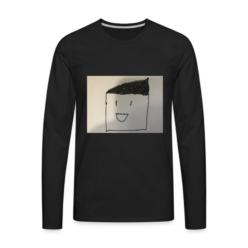 Guy with random stuff - Men's Premium Long Sleeve T-Shirt