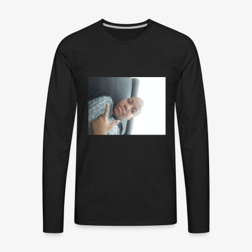 A shirt with my face on it - Men's Premium Long Sleeve T-Shirt