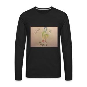 Rainbow Music Note - Men's Premium Long Sleeve T-Shirt
