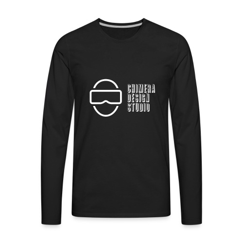 Chimera Design Studio logo white - Men's Premium Long Sleeve T-Shirt