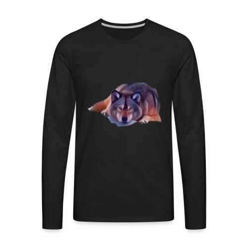 LOBO EN CALMA - Men's Premium Long Sleeve T-Shirt