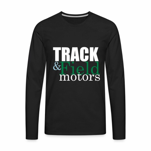 Track and Field Logo - Men's Premium Long Sleeve T-Shirt