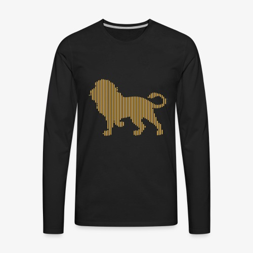 Lion Line Art - Men's Premium Long Sleeve T-Shirt