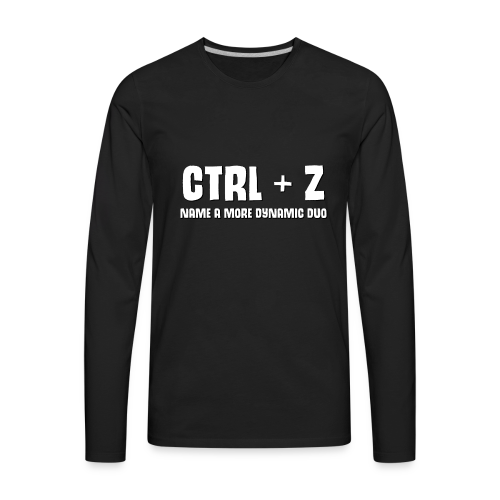 ctrl + z - Men's Premium Long Sleeve T-Shirt