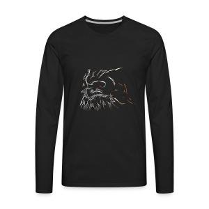 Glowing Owl - Men's Premium Long Sleeve T-Shirt