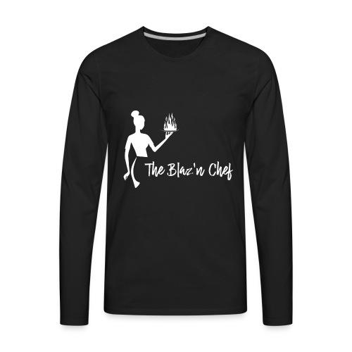 LOGO WHITE without Plant - Men's Premium Long Sleeve T-Shirt