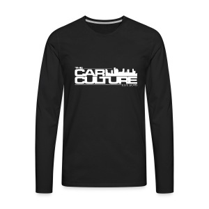 The Car Culture (White logo) - Men's Premium Long Sleeve T-Shirt