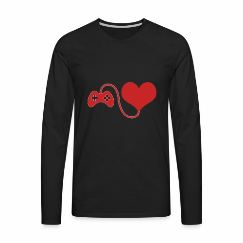 Red Gamer Brand Logo - Men's Premium Long Sleeve T-Shirt
