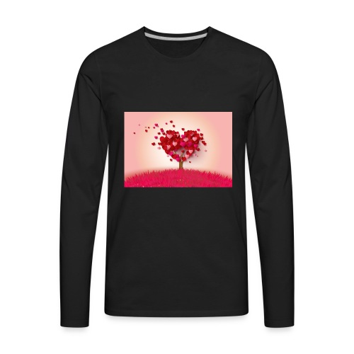 Heart Love Tree - Men's Premium Long Sleeve T-Shirt