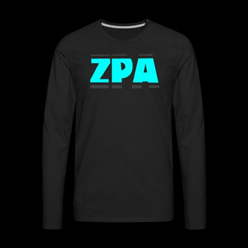 ZACHPLAYZARMY GREY AND TEAL - Men's Premium Long Sleeve T-Shirt