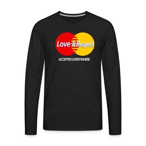 Love and Respect - Men's Premium Long Sleeve T-Shirt