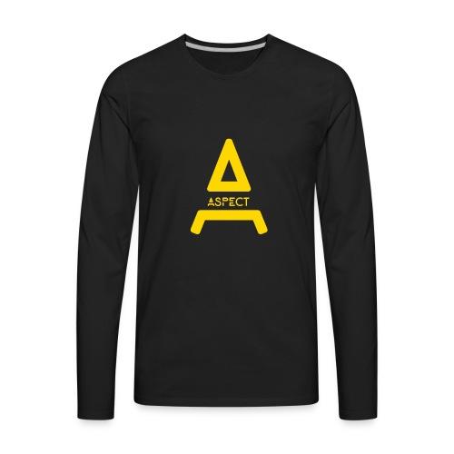 Limited Edition Gold Aspect Logo Sweatshirt - Men's Premium Long Sleeve T-Shirt