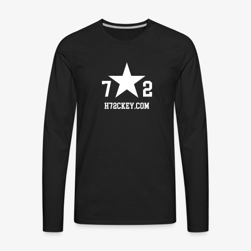 72Hockey com logo - Men's Premium Long Sleeve T-Shirt