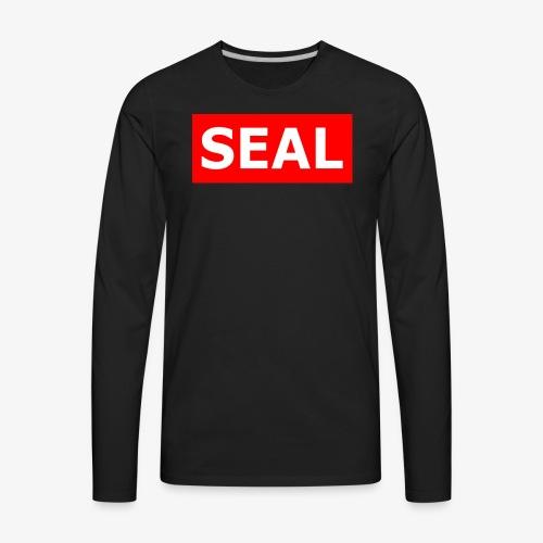 Seal Box Logo - Men's Premium Long Sleeve T-Shirt
