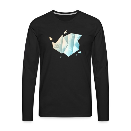 Hunter Playz Games Diamond Logo - Men's Premium Long Sleeve T-Shirt