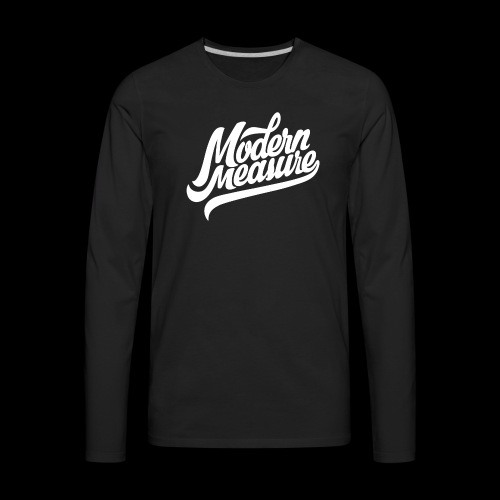 White Script Logo - Men's Premium Long Sleeve T-Shirt