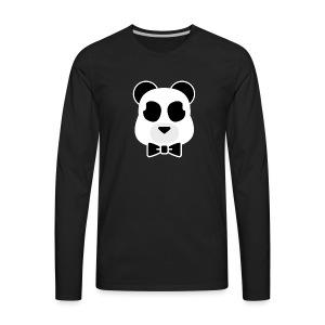 Doost the Panda (White Outline) - Men's Premium Long Sleeve T-Shirt