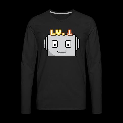 Beginner Bots Mascot - Men's Premium Long Sleeve T-Shirt