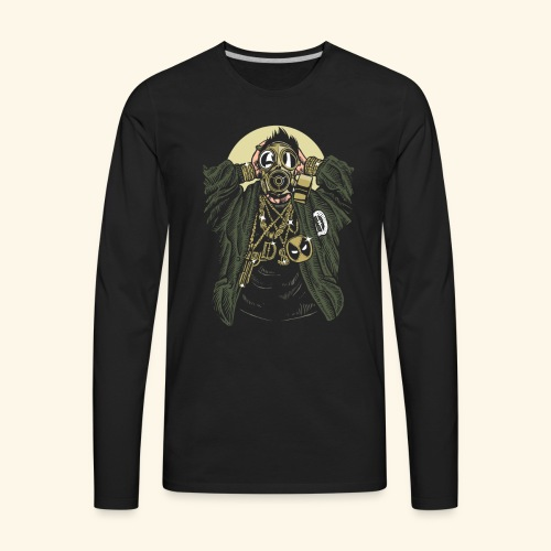 Gas mask Gangsta - Men's Premium Long Sleeve T-Shirt