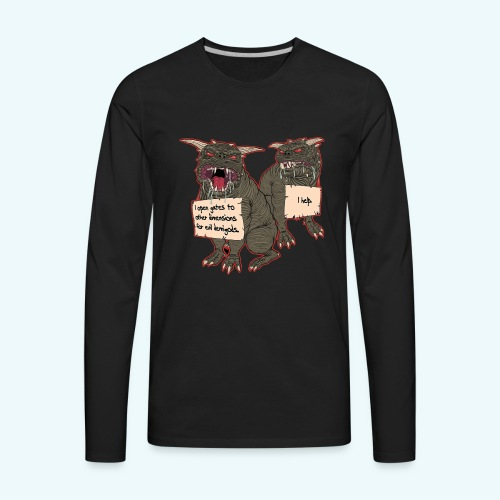 Demonic Terror Dog-Shaming - Men's Premium Long Sleeve T-Shirt