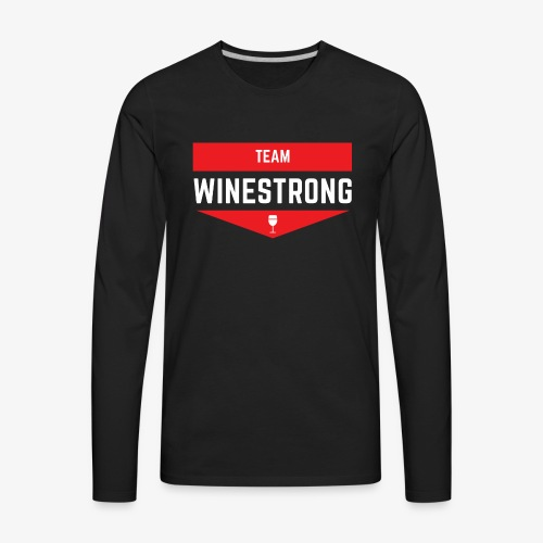 WineStrong Logo - Men's Premium Long Sleeve T-Shirt